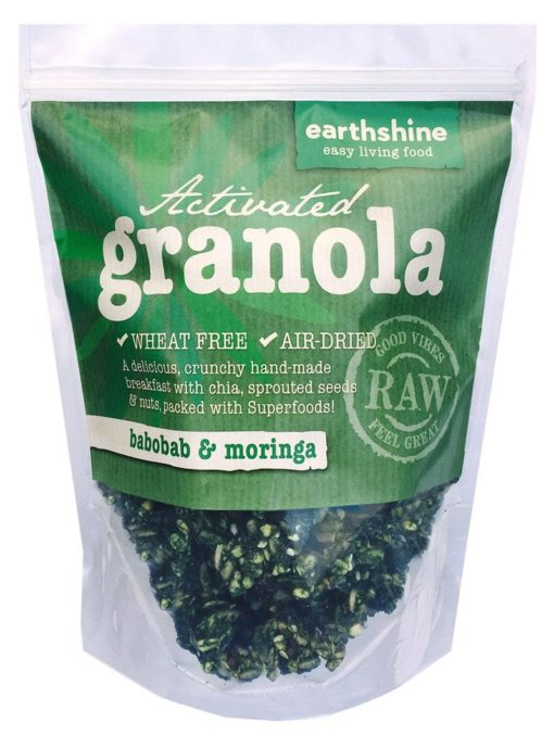 activated granola-baobab and moringa