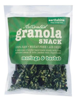 activated granola snack-moringa and baobab